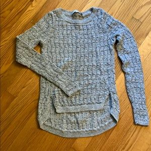 LOFT black & white marbled textured sweater